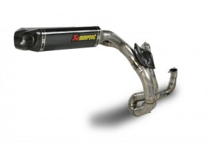 COMPLETE EVOLUTION EXHAUST SYSTEM FULL TITANIUM/CARBON SLEEVE EXAGONAL MUFFLER WITH CARBON END CAP