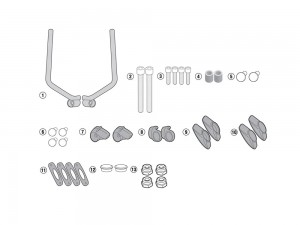 SPECIFIC FITTING KIT FOR 7407A WINDSCREEN